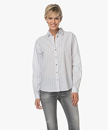Closed Aloise Shirt with Stripes - White