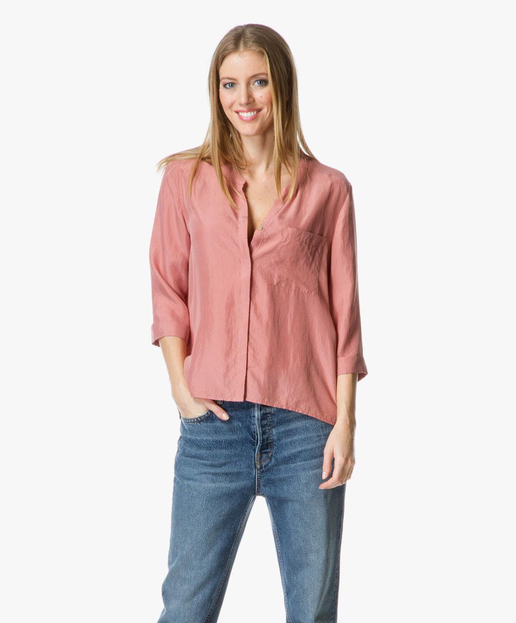 boss orange evena silk blouse medium pink evena 50302118 665 medium pink. Black Bedroom Furniture Sets. Home Design Ideas