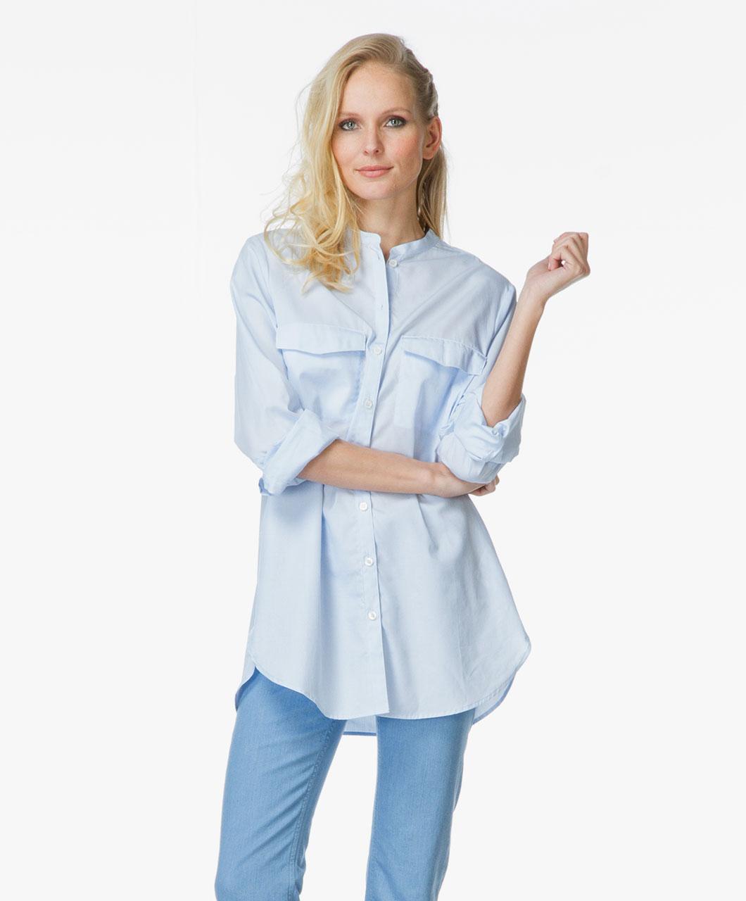 Filippa K Pinstripe Pocket Shirt Light Blue 22870 2238