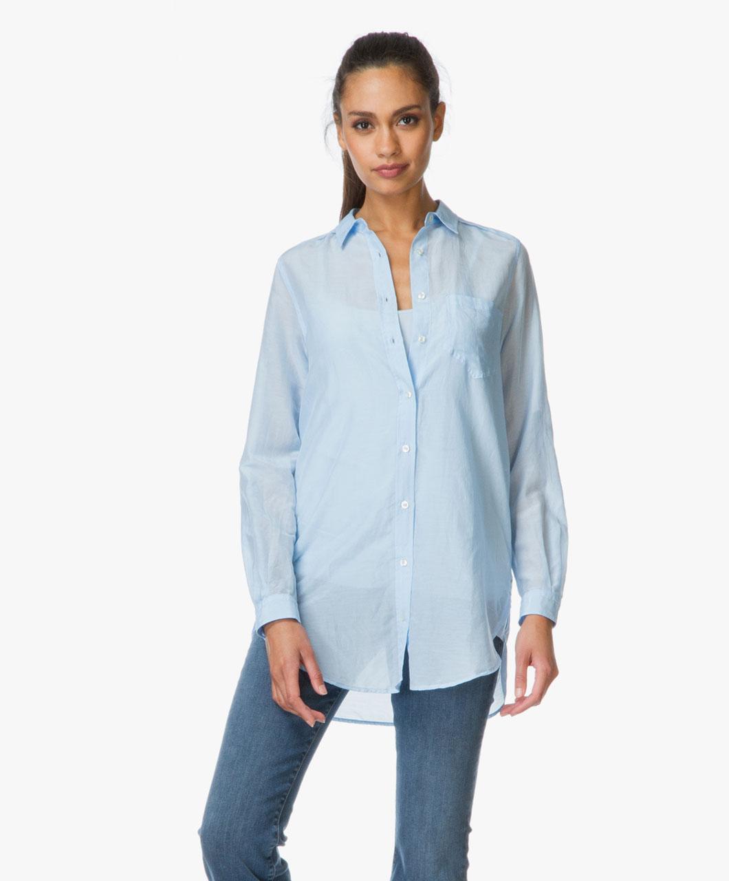 boss orange chrisler long blouse light blue 50302101 454 light. Black Bedroom Furniture Sets. Home Design Ideas