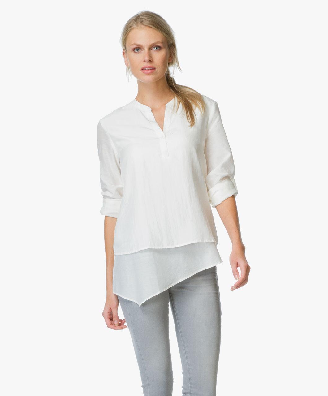 boss orange ciroof gelaagde blouse open white ciroof 50326134 115 open. Black Bedroom Furniture Sets. Home Design Ideas