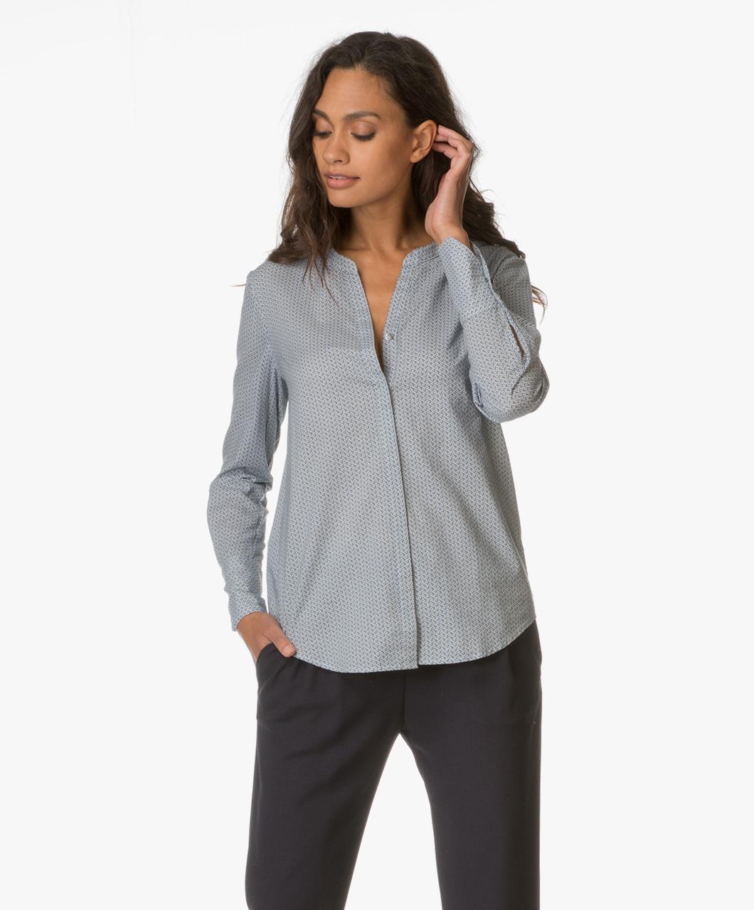 boss orange efelize print blouse dark blue efelize 50369327 405 dark. Black Bedroom Furniture Sets. Home Design Ideas