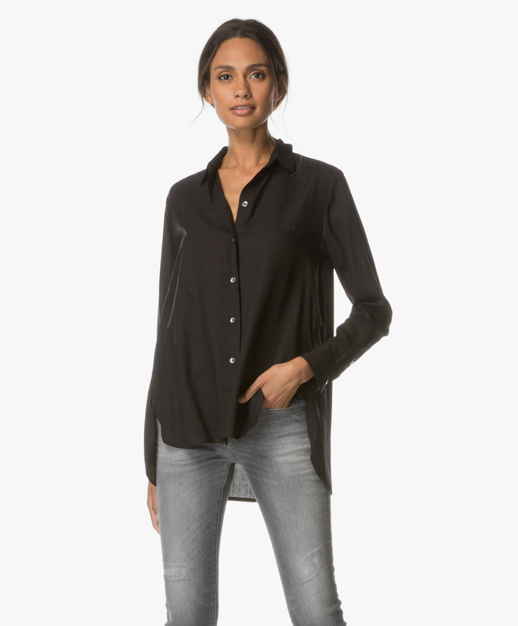 filippa k washed silk shirt