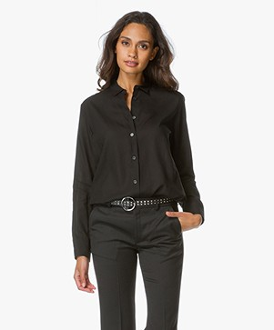 Filippa K Drapey Shirt - Black