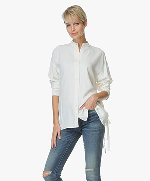 Helmut Lang Back Overlap Blouse - Off-white