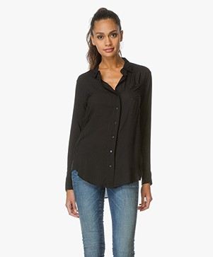 Denham Loose-fit Blouse Adventure - Cinder Black