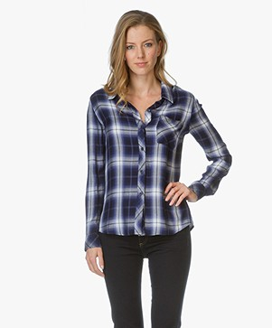 Rails Geruite Blouse Hunter