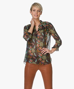 Ba&sh Blouse Yuppie with Paisley Print - Black/Multicolored