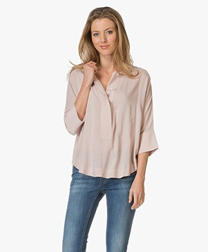 Repeat Woven Blouse - Blush