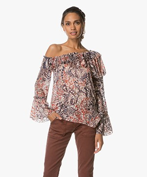 IRO Barrowl One-shoulder Blouse - Brick