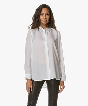Filippa K High-Low Tencel Blouse - Wit