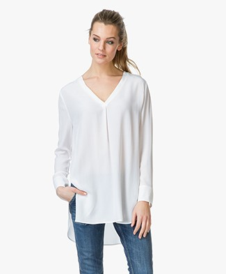 Charli Scarlet Washed Silk Blouse - Off-white