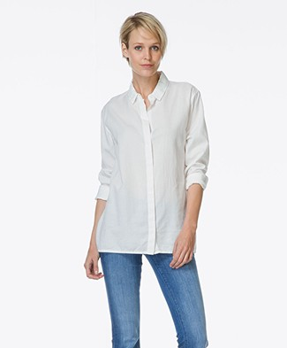 Denham Tencel Shirt Icon - Bone White