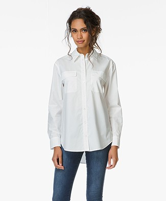 Equipment Signature Katoenen Blouse - Bright White