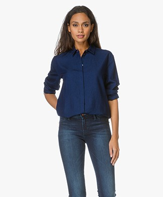 Denham Chambray Blouse Icon - Indigo