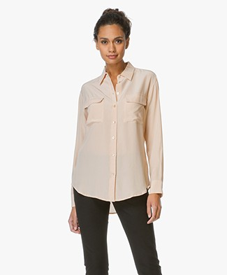 Equipment Signature Washed-silk Blouse