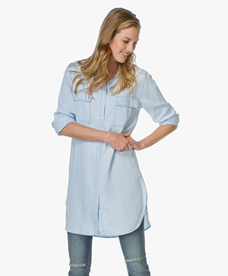 Rails Long Denim Blouse Sophia - Light Vintage Wash