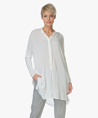 Project AJ117 Tunic Sheena with Jersey Sleeves - Chalk