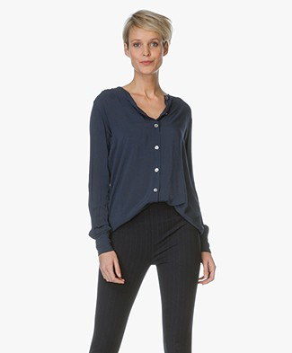 Project AJ117 Viscose Blouse Alis - Midnight
