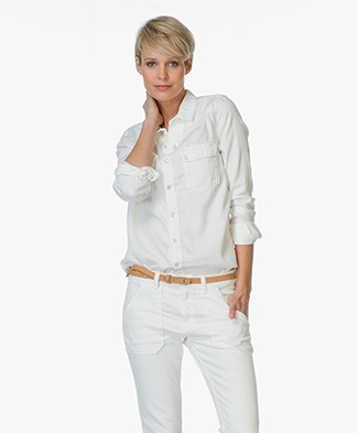 Ba&sh Denim Blouse Bridget - Off-white