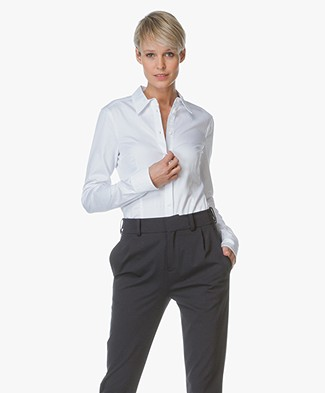 Drykorn Tailored Blouse Pira in Stretch Cotton
