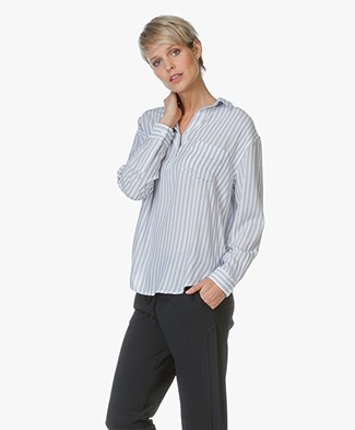 Rails Elle Striped Blouse - Admiral Stripe