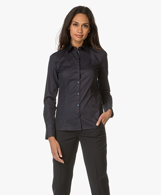 HUGO Etrixe Tailored Blouse - Navy