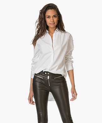 Rag & Bone Essex Poplin Overhemdblouse - Bright White