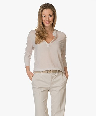 BRAEZ Breezy Blouse in Cotton and Viscose - Chalk