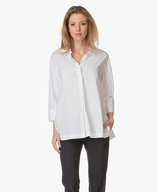 Repeat Cotton A-line Blouse - White