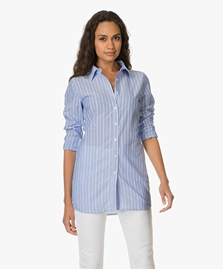Josephine & Co Emelis Striped Blouse - Stripe Dark Indigo