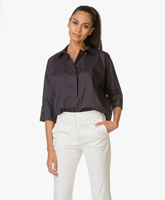 Repeat Cotton Blouse - Ink