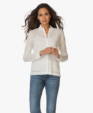 Majestic Broderie Anglaise Linen Blouse