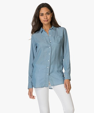Denham Stories Blouse - Indigo