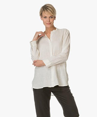 Majestic Linen Blouse - Off-white