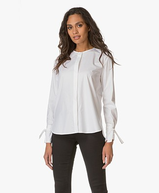 HUGO Poplin Blouse Enetta - Open White