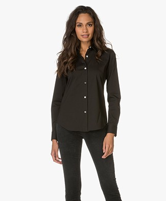 Theory Tenia Cotton Shirt - Black