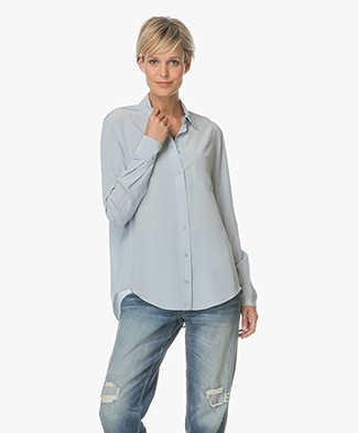 Joseph New Garcon Zijden Blouse - Powder Blue