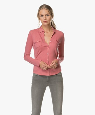 Majestic Cashmere Blend Blouse - Rose Wood