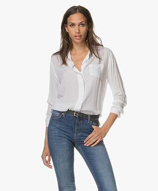 Denham Loose-fit Blouse Adventure - Bone White