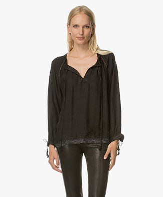 Zadig et Voltaire Theresa Lyocell Blouse - Zwart