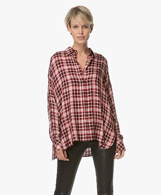 Zadig et Voltaire Tamara Checkered Blouse - Red