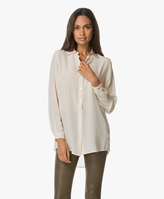 no man's land Zijden Blouse - Seashell