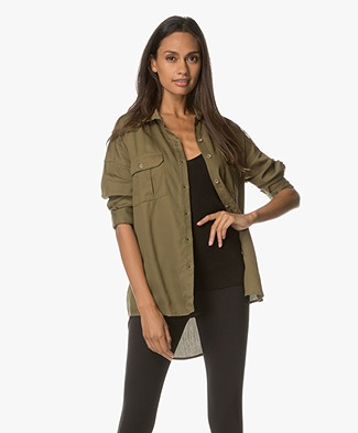 Sincerely Jules Luca Button Up Shirt - Army Green