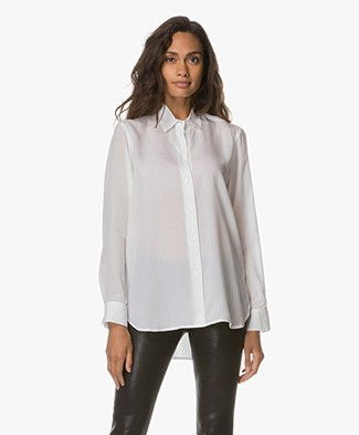 Filippa K High-Low Tencel Blouse - White