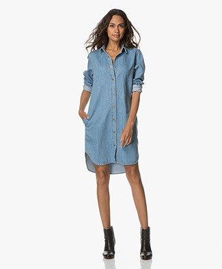 Closed Amorie Denim Shirt Dress - Even Mid Blue