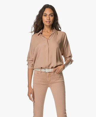 Repeat Pure Zijden Blouse - Pale Mauve