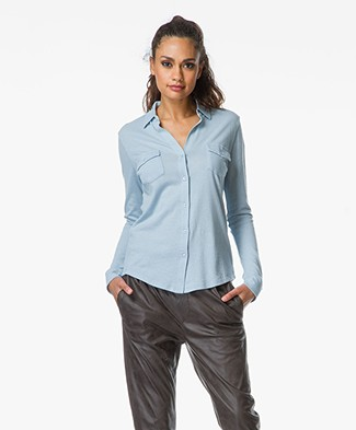 Majestic Jersey Blouse in Cotton/Cashmere Blend