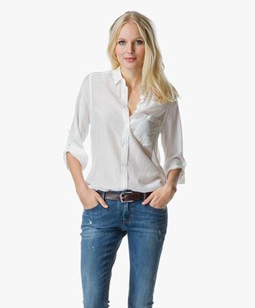 boss orange chrisler lange blouse off white 50302101 100. Black Bedroom Furniture Sets. Home Design Ideas