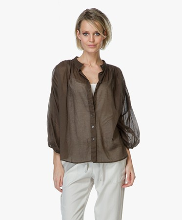 Closed cotton voile blouse taupe c94476 253 30 747 - Grijs kantoor taupe ...